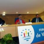 Tomás Alcoverro durante la conferencia