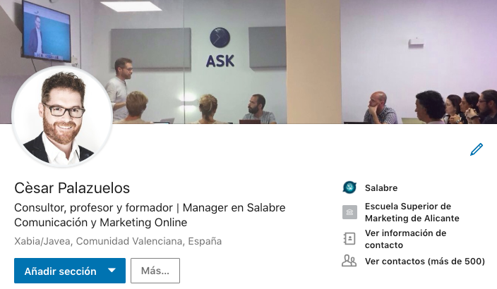 LinkedIn César Palazuelos