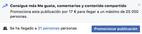 Facebook Promocionar