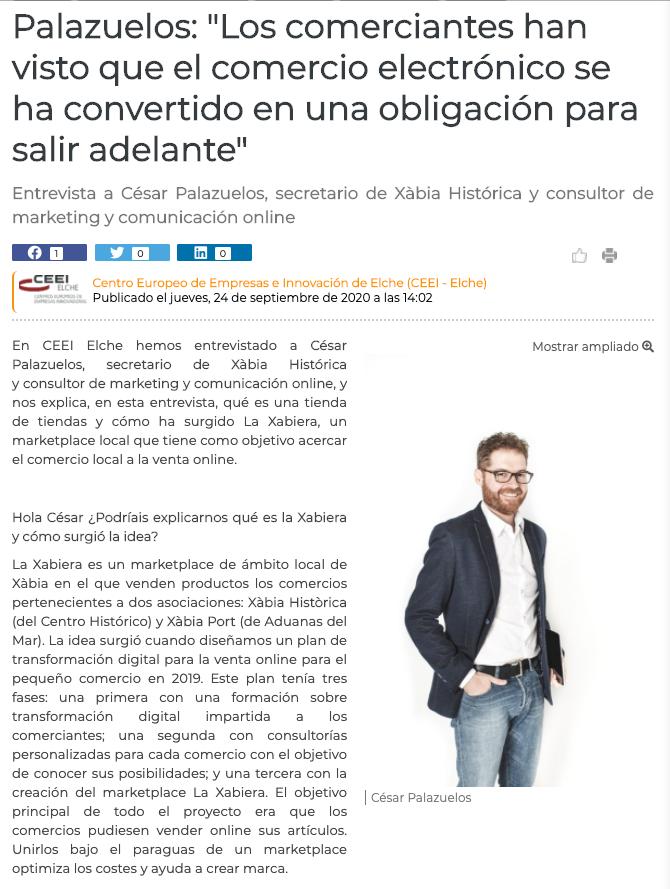 Entrevista a César Palazuelos